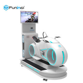 أبيض مع أضواء LED 1250 * 3065 * 2338mm vr 9d motion 100٪ simulator racing simulator for 1 player