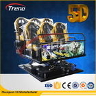 الصين 70 PCS 5D Movies + 7 PCS 7D Shooting Games Safety Theme Park Roller Coasters 5D Cinema Simulator With Hydraulic System الشركة