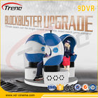 الصين Orange / Blue / Black Color 9d Movie Theater , Full Motion Simulator Multi-seats الشركة